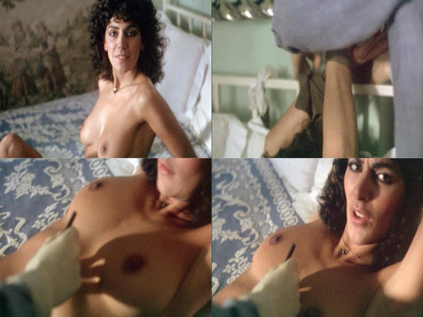 Marina Sirtis topless and bound