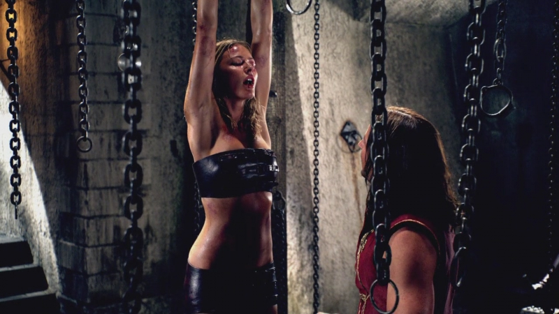 Ledgend of the seeker bondage scene
