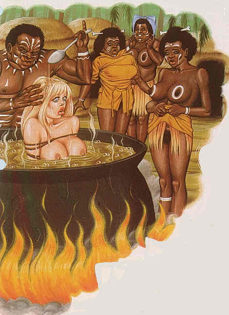 Lord that naked women being cooked alive there anything