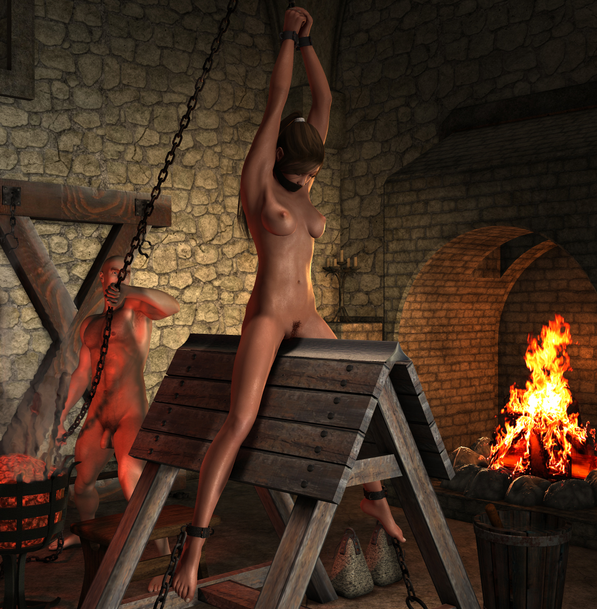 Medieval torture porno pics exposed thumbs